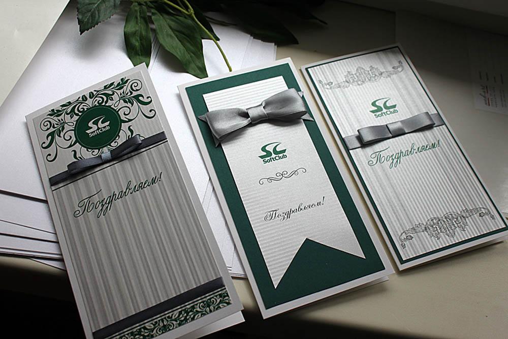 Корпоративные стильные открытки, маме